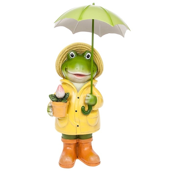 Puddle Frog Standing Boy Large Ornament