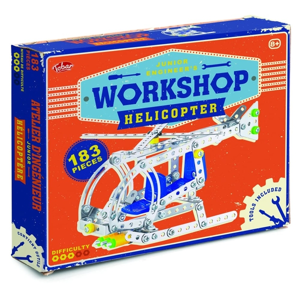 Workshop Helicopter Model Kit Toy