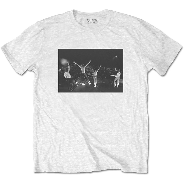 Queen - Crowd Shot Men's Medium T-Shirt - White