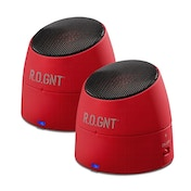 R.O.GNT 0002-21 Portable Bluetooth MP3 Capsule Speaker Red