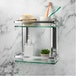 Tempered Glass Shelf with Aluminium Rail | M&W 2 Tier - Image 2