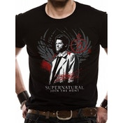 Supernatural - Castiel Men's Large T-Shirt - Black