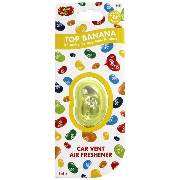 Jelly Belly Top Banana Vent Clip Car/Home Air Freshener