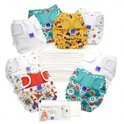 (Damaged Packaging) Bambino Mio Miosoft Reusable Nappy Birth to Potty Pack 2 Pieces, Unisex