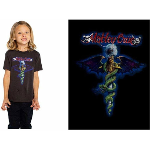 Motley Crue - Blue Dragon Kids 5 - 6 Years T-Shirt - Black
