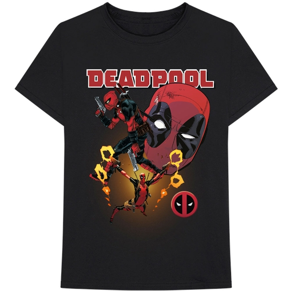 Marvel Comics - Deadpool Collage 2 Men's Medium T-Shirt - Black