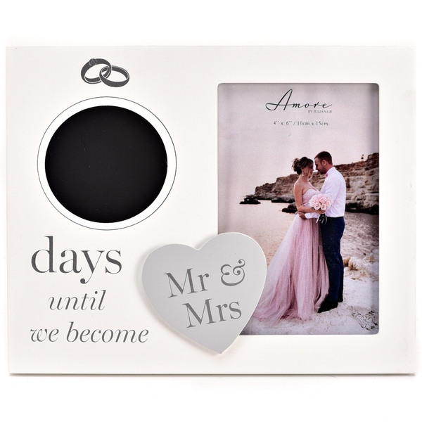 Amore MDF Countdown Frame with Chalk