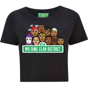 Wu-Tang Clan - Sesame Street Women's Small Cropped T-Shirt - Black