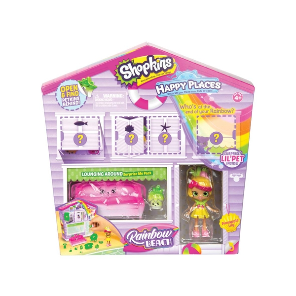 Shopkins Happy Places Rainbow Beach Welcome Packs - Lounging Around
