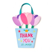 Cheerfull Thank You Flower Pot Plaque