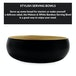 Bamboo Serving Bowl | M&W Small Black - Image 2