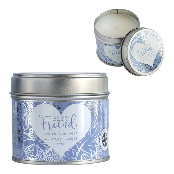Said with Sentiment Candles in Tin Best Friend