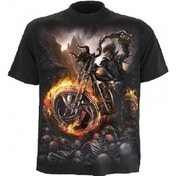 Spiral Wheels Of Fire T-Shirt Medium Black
