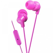 JVC HAFR15P Colourful In-Ear Headphones with Remote & Mic Pink