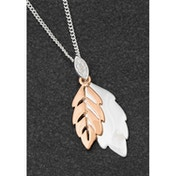 Back To Nature Modern 2 Tone Leaves Necklace