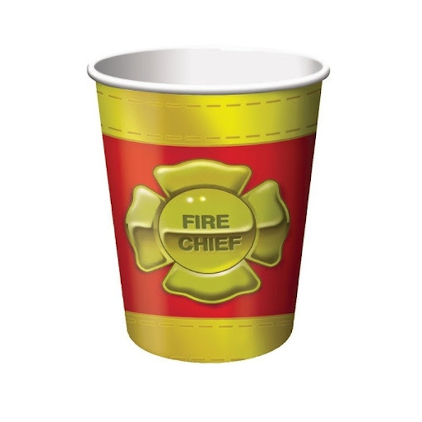 Firefighter Paper Cups