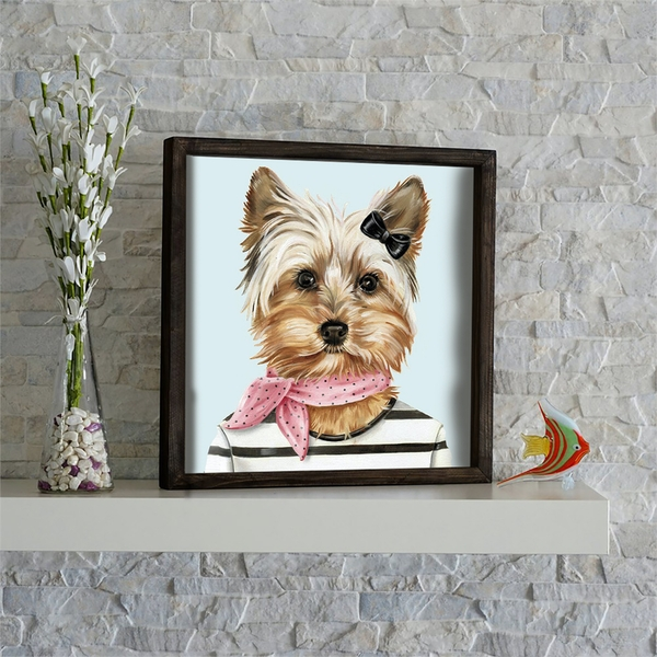 KZM610 Multicolor Decorative Framed MDF Painting