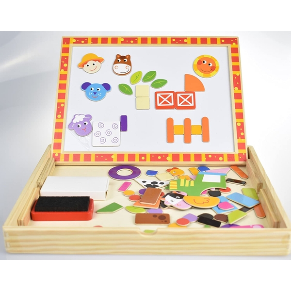 Wooden Magnetic Double Sided Activity Board