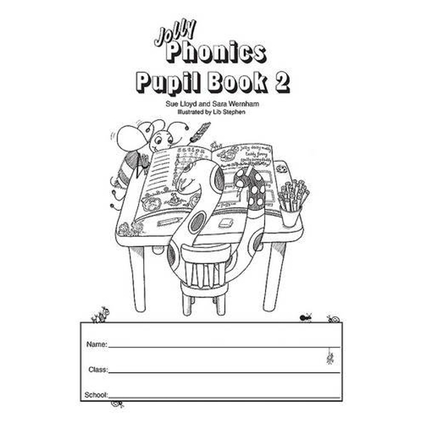 Jolly Phonics Pupil Book 2 (black & white edition): in Precursive Letters (BE) by Sue Lloyd, Sara Wernham (Paperback, 2010)