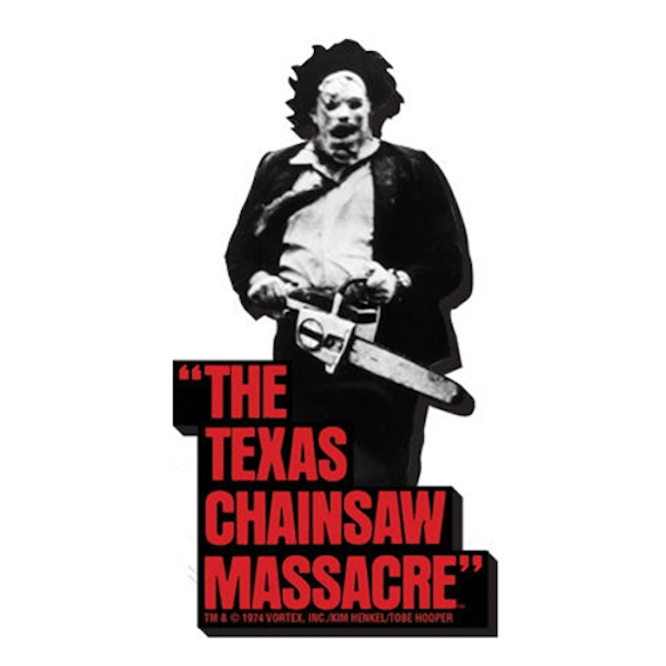 Texas Chainsaw Massacre B/W Magnet