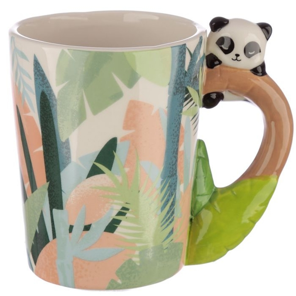 Panda Shaped Handle Ceramic Mug