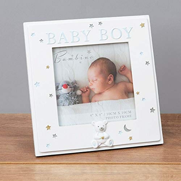 "4"" x 4"" - Bambino Resin Baby Boy Photo Frame"