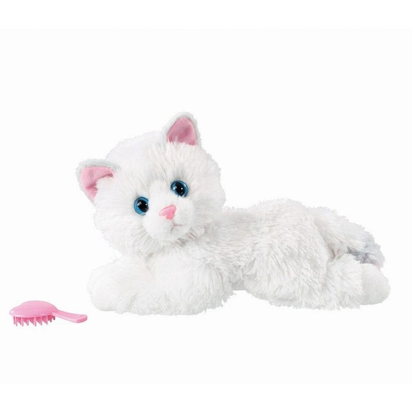 Animagic Kitty Lily Plush White Snuggle Kitten