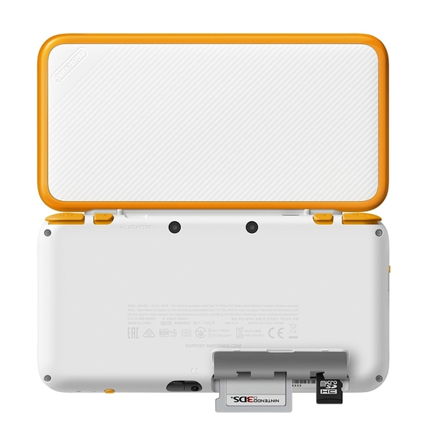 Nintendo 2DS XL Handheld Console White and Orange UK Plug - Image 3