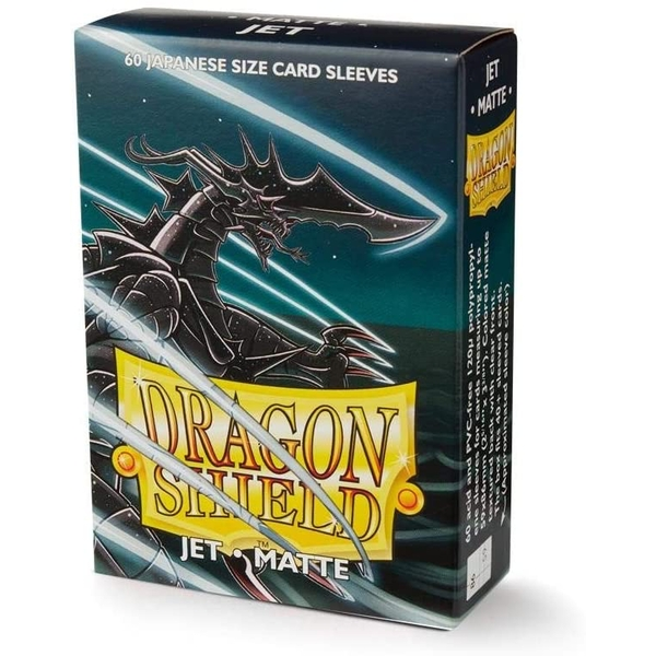 Dragon Shield Matte Jet Japanese Size Card Sleeves - 60 Sleeves