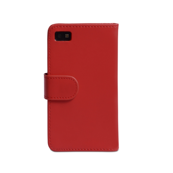 YouSave Accessories Blackberry Z10 Leather-Effect Wallet Case - Red - Image 2
