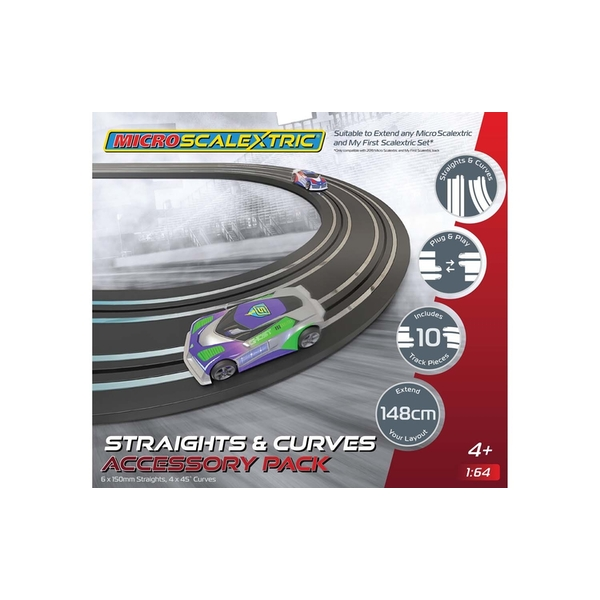 Micro Scalextric Straights & Curves Track Extension Pack
