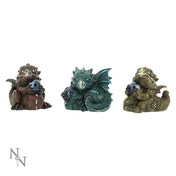 Citrene Aquamarine Ruby (Pack Of 3) Dragon Figures