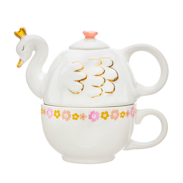 Sass & Belle Freya Swan Tea For One