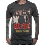AC/DC H2H Photo T-Shirt Medium - Grey