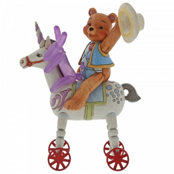 Heigh Ho Squeaky Button and Squeaky on Unicorn Figurine