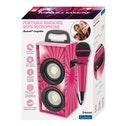 Lexibook BTP155PKZ iParty Mini Bluetooth Karaoke Tower with Microphone Pink