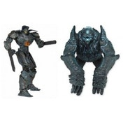 Ex-Display Pacific Rim 7 inch Action Figures 2 pack Battle Damaged Gipsy Danger vs Leatherback Used - Like New
