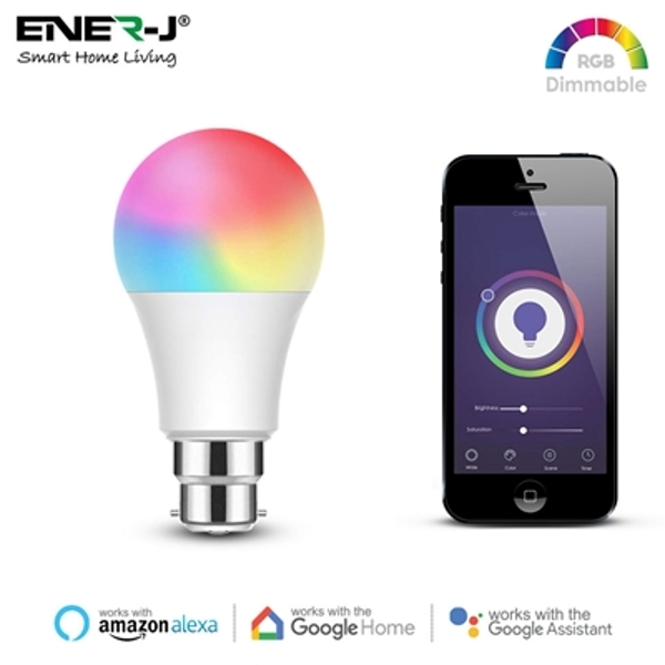 ENER-J Smart WiFi Colour Changing LED Light Bulb 9W