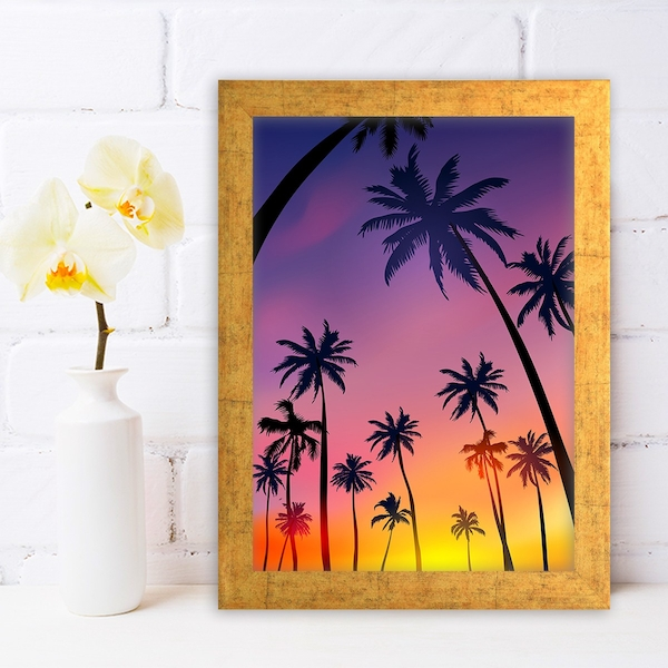 AC6317670802 Multicolor Decorative Framed MDF Painting