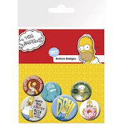 The Simpsons Homer Badge Pack