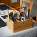 Bamboo Utensil Cutlery Holder | M&W - Image 4