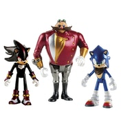Sonic, Shadow & Dr Eggman (Sonic the Hedgehog Boom) 3 Inch Figures