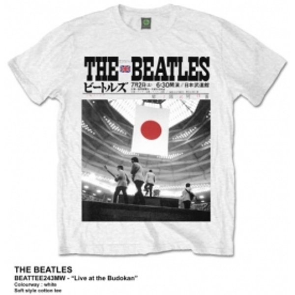 The Beatles Live At The Budokan White TS: XXL