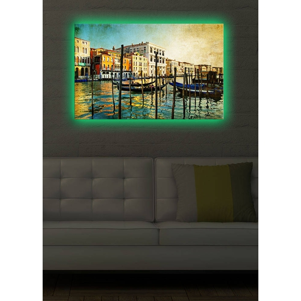 4570DACT-7 Multicolor Decorative Led Lighted Canvas Painting