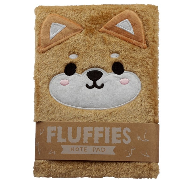 Cutiemals Plush Shiba Inu Dog Fluffies Notepad/Notebook