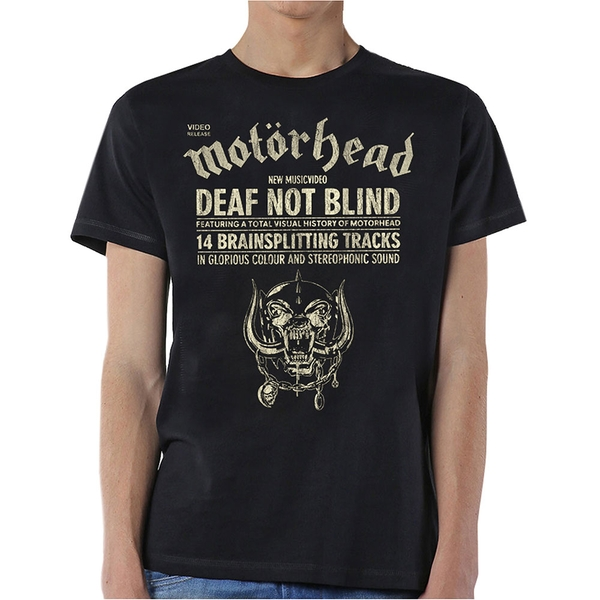 Motorhead - Deaf Not Blind Unisex Small T-Shirt - Black