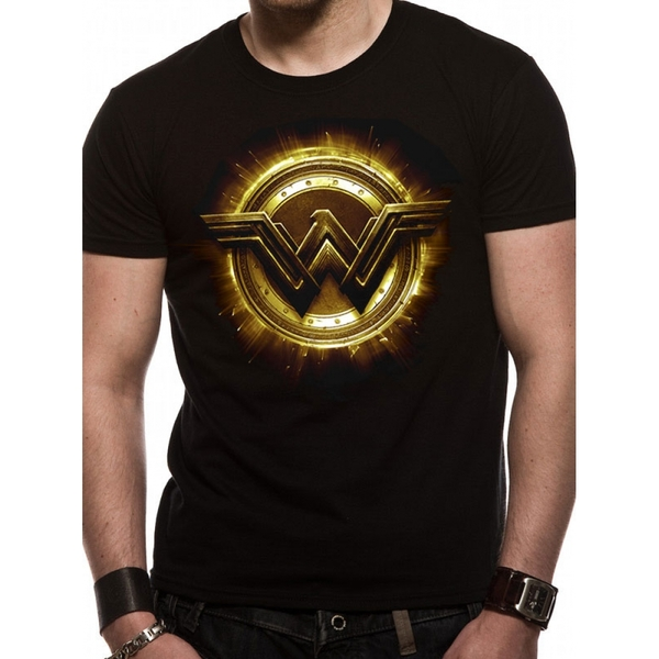dce5d887a Hey! Stay with us... Justice League Movie - Wonder Woman Symbol Men's  Medium T-Shirt ...