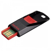 SanDisk SDCZ51-064G-B35 64GB Cruzer Edge USB 2.0 Flash Drive - Red/Black