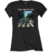 The Beatles - Abbey Road & Logo Women's Medium T-Shirt - Black