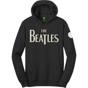 The Beatles - Logo & Apple Men's Medium Pullover Hoodie - Black
